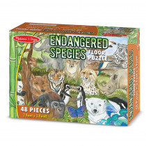 LCI4437 - Endangered Species Floor Puzzle 48 Pcs in Floor Puzzles