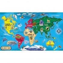 LCI446 - Floor Puzzle World Map in Floor Puzzles