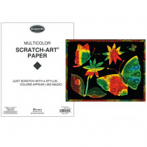 LCI8001 - S Art Paper Multi 50 Sheets in Scratch Art Sheets