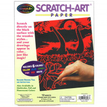 LCI8003 - S Art Paper Solid Colors 12/Pk in Scratch Art Sheets