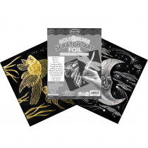 LCI8013 - S Art Paper Gold/Silver Foil 10 Pk in Scratch Art Sheets