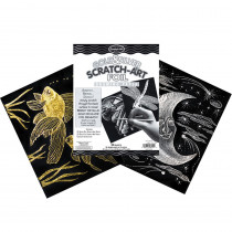 LCI8014 - S Art Paper Gold/Silver Foil 50 Pk in Scratch Art Sheets
