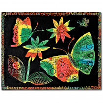 LCI8050 - Scratch-Art Board 10 Sht Multi Color Soft-Scratch Board in Scratch Art Sheets