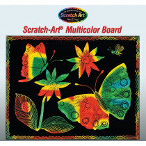 LCI8051 - Scratch-Art Board 30 Sht Multi Color Soft-Scratch Board in Scratch Art Sheets