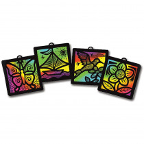 LCI8243 - Scratch-Art Light Catcher Group Pk in Scratch Art Sheets