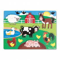 LCI9050 - Farm Peg Puzzle in Knob Puzzles