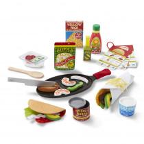 Fill & Fold Taco & Tortilla Set - LCI9370   Melissa & Doug   Pretend & Play