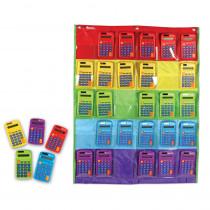 Rainbow Calculators & Storage Chart - LER0009 | Learning Resources | Calculators