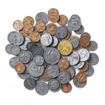 LER0068 - Treasury Coin Assortment 460/Pk Set Plastic Realistic in Money