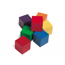 LER0136 - Cubes Wood 1 In 100 Pk 6 Colors in Blocks & Construction Play