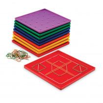 LER0153 - Geoboard 5 X 5 Plastic 7 10-Pk in Geometry