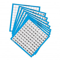 LER0375 - Laminated Hundreds Cards 10/Pk 11 X 11 in Place Value