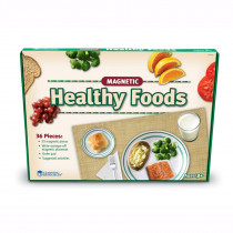 LER0497 - Magnetic Healthy Foods 34 Pcs W/ Placemat in Play Food