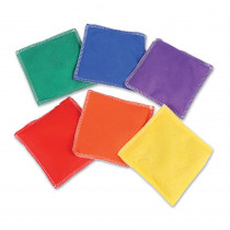 LER0545 - Bean Bags Rainbow 6/Pk in Bean Bags & Tossing Activities