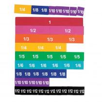 LER0611 - Soft Foam Magnetic Rainbow Fraction Tiles in Fractions & Decimals