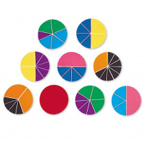 LER0617 - Delx Rainbow Fraction Circles 51/Pk in Fractions & Decimals