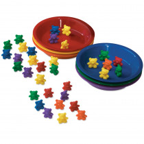 LER0739 - Baby Bear Sorting Set 102 Bears 6 Colors 6 Bowls in Sorting
