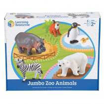 LER0788 - Jumbo Zoo Animals 5/Set in Animals