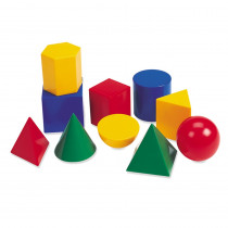 LER0922 - Large Geometric Shapes 10/Pk 3D in Geometry