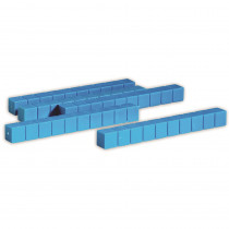 LER0925 - Base Ten Rods Plastic Blue 50 Pk 1X1x10cm in Base Ten