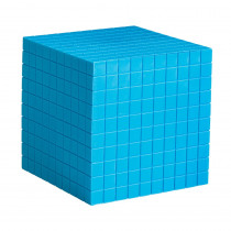 LER0927 - Base Ten Cube Plastic Bl 10X10x10cm in Base Ten