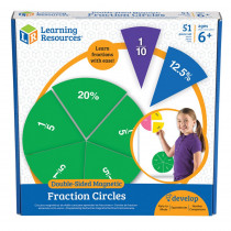 LER1616 - Double Sided Magnetic Fraction Circles in Fractions & Decimals