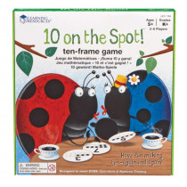 LER1764 - 10 On The Spot Ten Frame Game in Math