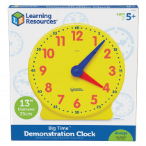 LER2094 - Big Time Clock Demonstration 12 Hr 13-1/4H Plastic in Time