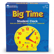 LER2095 - Big Time Clock Student 12 Hr 5 Diameter Plastic in Time