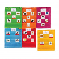 Magnetic Pocket Chart Squares, Set of 6 - LER2386 | Learning Resources | Organizer Pockets