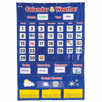 LER2418 - Calendar And Weather Pocket Chart in Pocket Charts