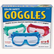 LER2449 - Rainbow Safety Goggles Set Of 6 in Lab Equipment