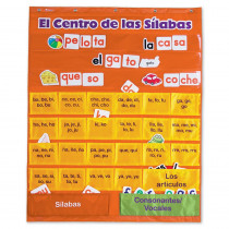 LER2573 - Spanish Syllables Pc W/ Cards Chart in Charts