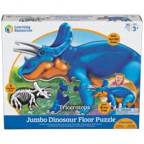 LER2857 - Jumbo Dinosaur Puzzle Triceratops Floor in Puzzles