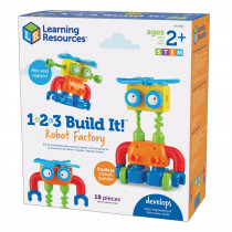 1-2-3 Build It! Robot Factory - LER2869 | Learning Resources | Blocks & Construction Play