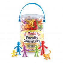 LER3372 - All About Me Family Counters 72 Set in Counting