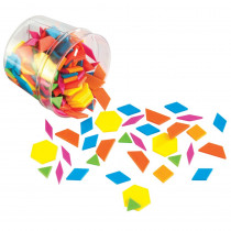 LER3550 - Plastic Pattern Blocks Brights 0.5Cm Thick in Patterning