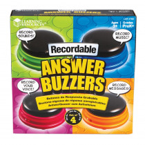 LER3769 - Recordable Answer Buzzers Set Of 4 in Games & Activities