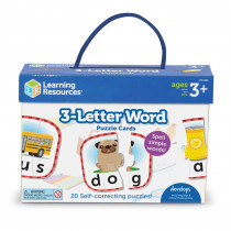 3-Letter Word Puzzle Cards - LER6088 | Learning Resources | Language Arts
