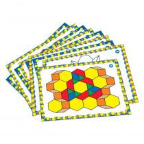 Pattern Block Design Card Set - LER6133 | Learning Resources | Patterning