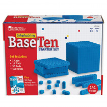 LER6356 - Interlocking Base Ten Starter Set in Base Ten
