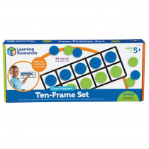 LER6644 - Giant Magnetic Ten Frame Set 4 Frames 40 Pieces in Base Ten