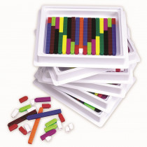 LER7481 - Cuisenaire Rods Multipack 6St Of 74 in Numeration