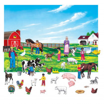 LFV22382 - Farm Set 6In Figures With Unmounted Background in Flannel Boards