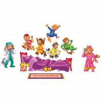 LFV22702 - Five Monkeys On The Bed Flannelboard Set in Flannel Boards