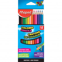 Color'Peps Triangular Colored Pencils, Pack of 12 - MAP832047ZV | Maped Helix Usa | Colored Pencils