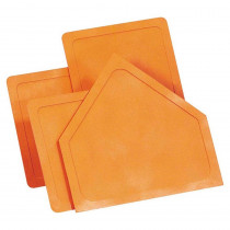 MASBS60 - Throw-Down Home Plate & 3 Bases Orange Rubber in Playground Equipment