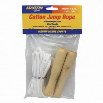 MASCJR7 - Jump Rope Cotton 7Wood Handle in Jump Ropes