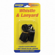 MASWL21 - Whistle & Lanyard No P20 & Lanyard On Blister Card in Whistles