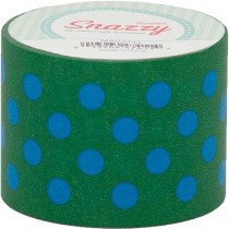 MAV4711 - Mavalus Snazzy Lime W/ Blue Polka Dot Tape 1.5 X 39 in Tape & Tape Dispensers